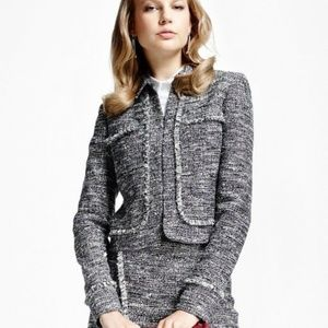 Brooks Brothers Tweed Cropped Jacket